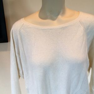Halogen Sweater cashmere/wool Ivory  Large